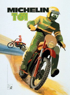 Michelin T61 Motocross Tire Ad Fine Art Print