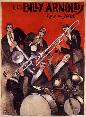 Billy Arnold Jazz Band Music by Paul Colin Fine Art Print