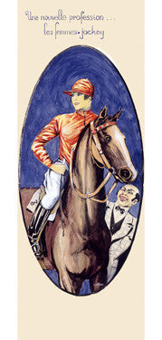 The New Female Horse Jockey Fine Art Print