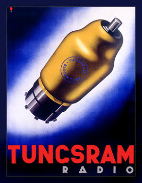 Tungsram Radio Vacuum Tube Advertisement Fine Art Print