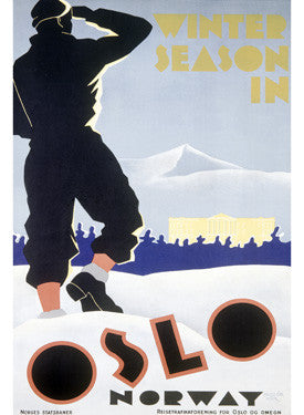Winter Snow Season Oslo Norway Ad Fine Art Print