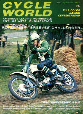 1965 Cycle World Greeves Motocross Ad Fine Art Print