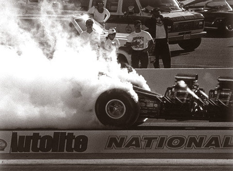 Top Fuel Dragster Burnout Photo by David Perry Fine Art Print