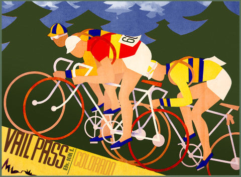Vail Pass Bicycles Ad Fine Art Print