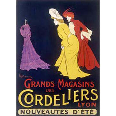 Grand Magasins Cordeliers Lyon by Artist Leonetto Cappiello Wood Sign