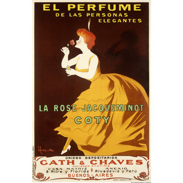 El Perfume by Artist Leonetto Cappiello Wood Sign