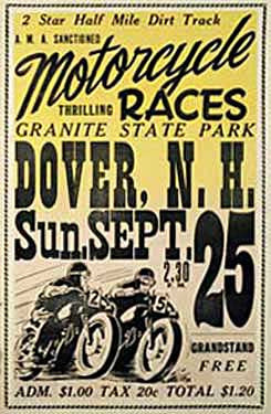 Granite State Park, NH Motorcycle Races Ad Fine Art Print