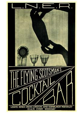 The Flying Scotsman's Cocktail Bar Ad by Lorrie Beck Fine Art Print