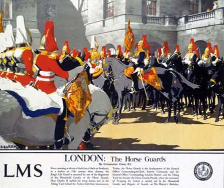 London The Horse Guards by Christopher Clark Fine Art Print