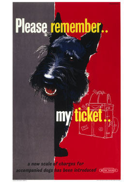 Please Remember my Ticket BR Fine Art Print
