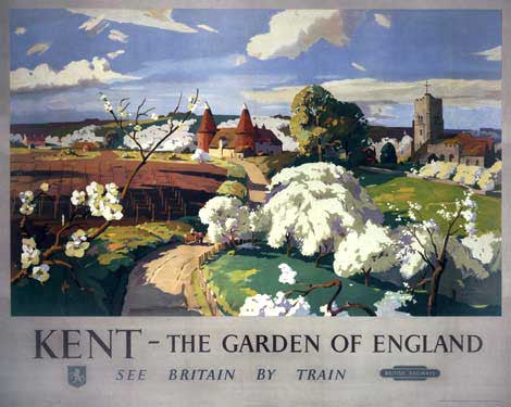 Kent - The Garden of England by rank Sherwin Fine Art Print