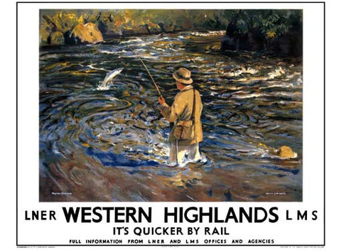 Western Highlands by Arthur James Wether Burgess Fine Art Print