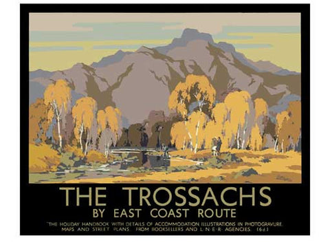 The Trossachs by John Littlejohns Fine Art Print