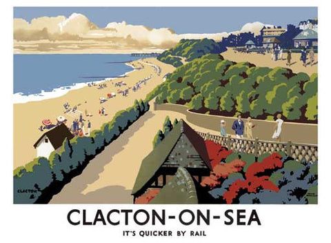 Clacton-on-Sea by Frank Newbould Fine Art Print