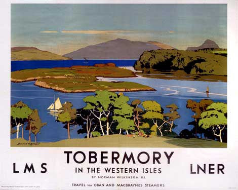 Tobermory by Norman Wilkinson Fine Art Print