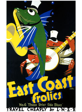 East Coast Frolics, No 6 by Frank Newbould Fine Art Print