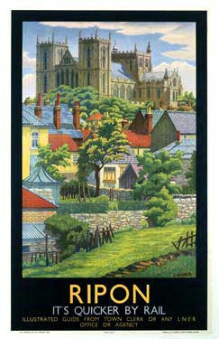 Ripon by Charles Ginner Fine Art Print