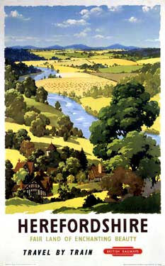 Herefordshire by A.J. Wilson Fine Art Print