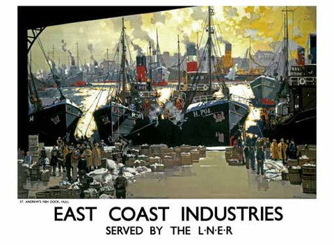 East Coast Industries by Frank Mason Fine Art Print