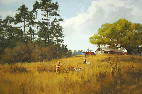 Covey in the Broom Sedge by Brett James Smith Fine Art Print