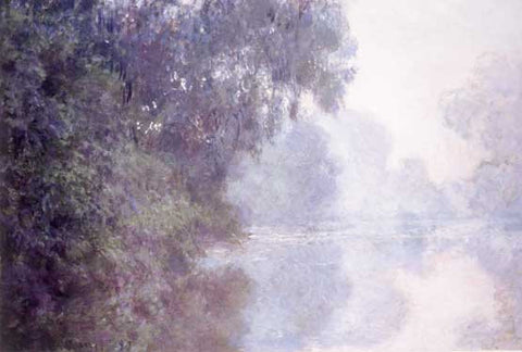 Morning Seine by Claude Monet Fine Art Print