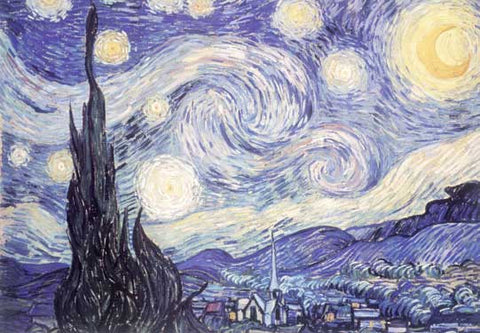 Starry Night 1889 by Vincent Van Gogh Fine Art Print