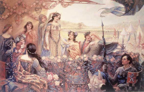 Lancelot and Guinevere by Herbert Draper Fine Art Print