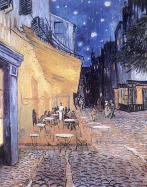Cafe Terrace at Night by Vincent Van Gogh Fine Art Print