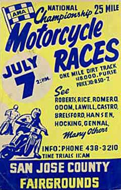 San Jose, CA Motorcycle Races Ad Fine Art Print