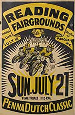 Reading, PA Fairgrounds Motorcycle Races Ad Fine Art Print