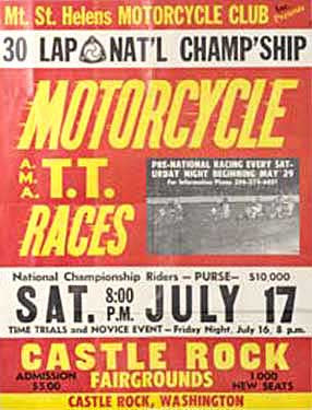 Castle Rock, WA Fairgrounds Motorcycle Races Ad Fine Art Print