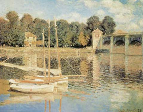 Pont d'Argenteuil by Claude Monet Fine Art Print