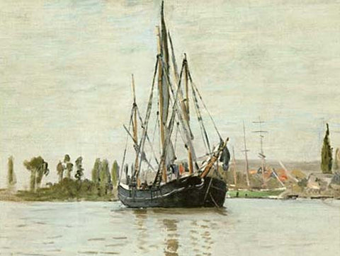 Chasse-Maree a l'Ancre by Claude Monet Fine Art Print