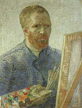 Self-Portrait as an Artist by Vincent Van Gogh Fine Art Print