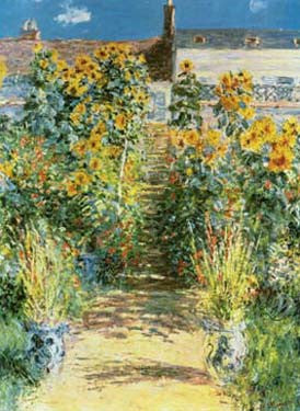 Garden at Vetheuil by Claude Monet Fine Art Print