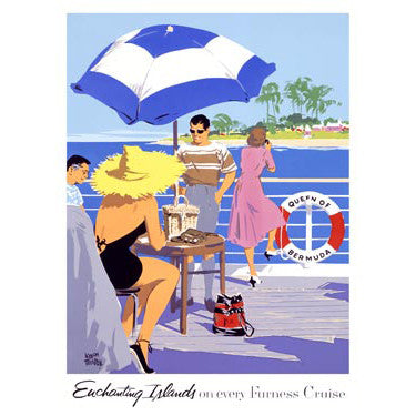 Enchanting Island Furness Cruise by Artist Adolph Treidler Wood Sign