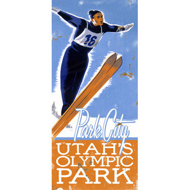 Personalized Ski Park City Wood Sign