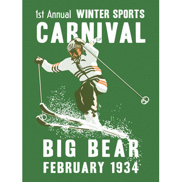 Personalized Big Bear Winter Sports Wood Sign