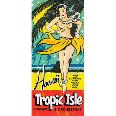 Personalized Hawaii Tropic Isle Wood Sign