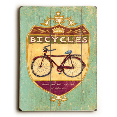 Bicycles Wood Sign