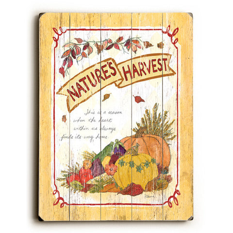 Nature's Harvest Wood Sign