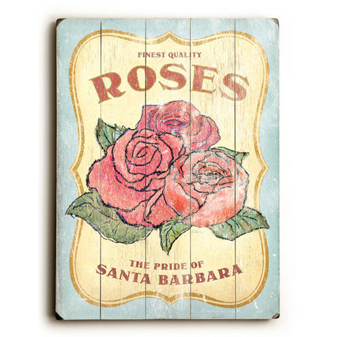 Personalized Finest Quality Roses Wood Sign