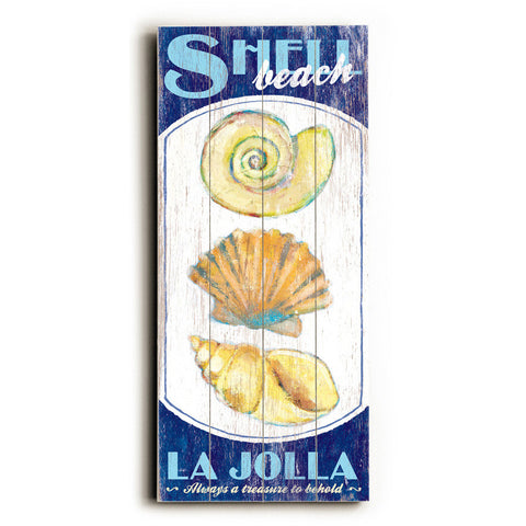 Personalized Shell Beach Wood Sign