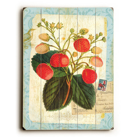 Strawberry by Artist Cory Steffen Wood Sign