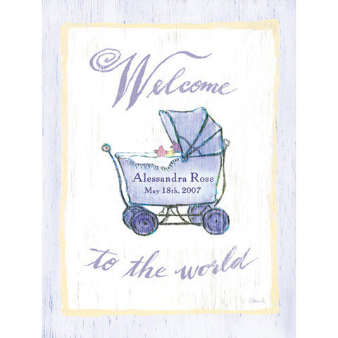 Welcome Baby Wood Sign