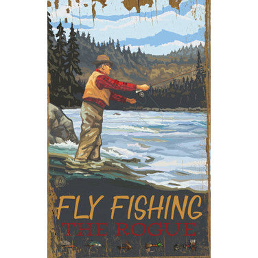 Personalized Fly Fishing Wood Sign