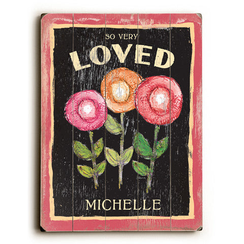 Personalized So Very Loved Wood Sign