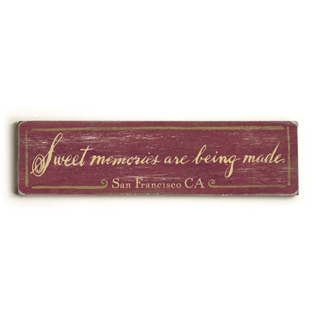 Personalized Sweet Memories Wood Sign