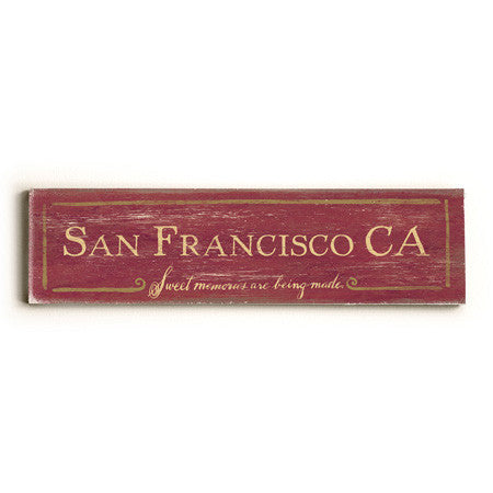 Personalized Sweet Memories City Sign Wood Sign