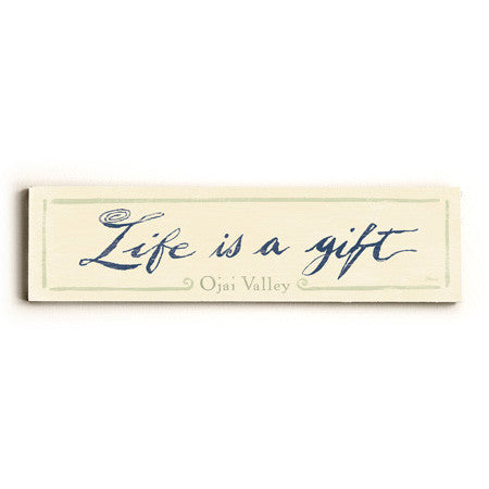 Personalized Life Is A Gift Wood Sign